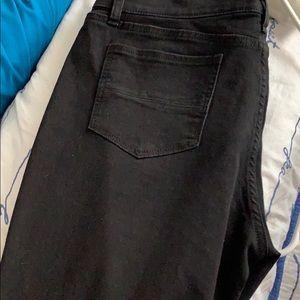 Black skinny jeans size 14